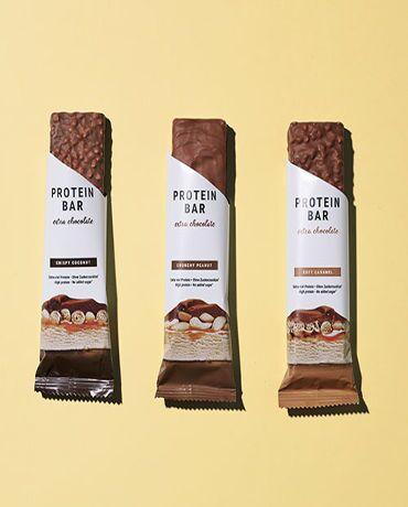 Barretta proteica extra cioccolato pacchetto da 12 mix