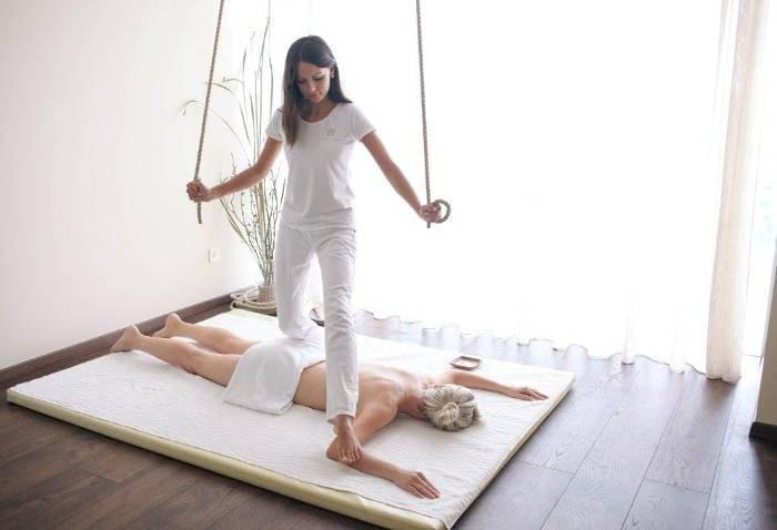 Corso massaggio con i piedi Kalari massaggio ayurvedico anticellulite per estetiste