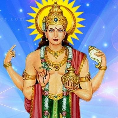 Dhanvantari medico degli dei e dio dell'Ayurveda